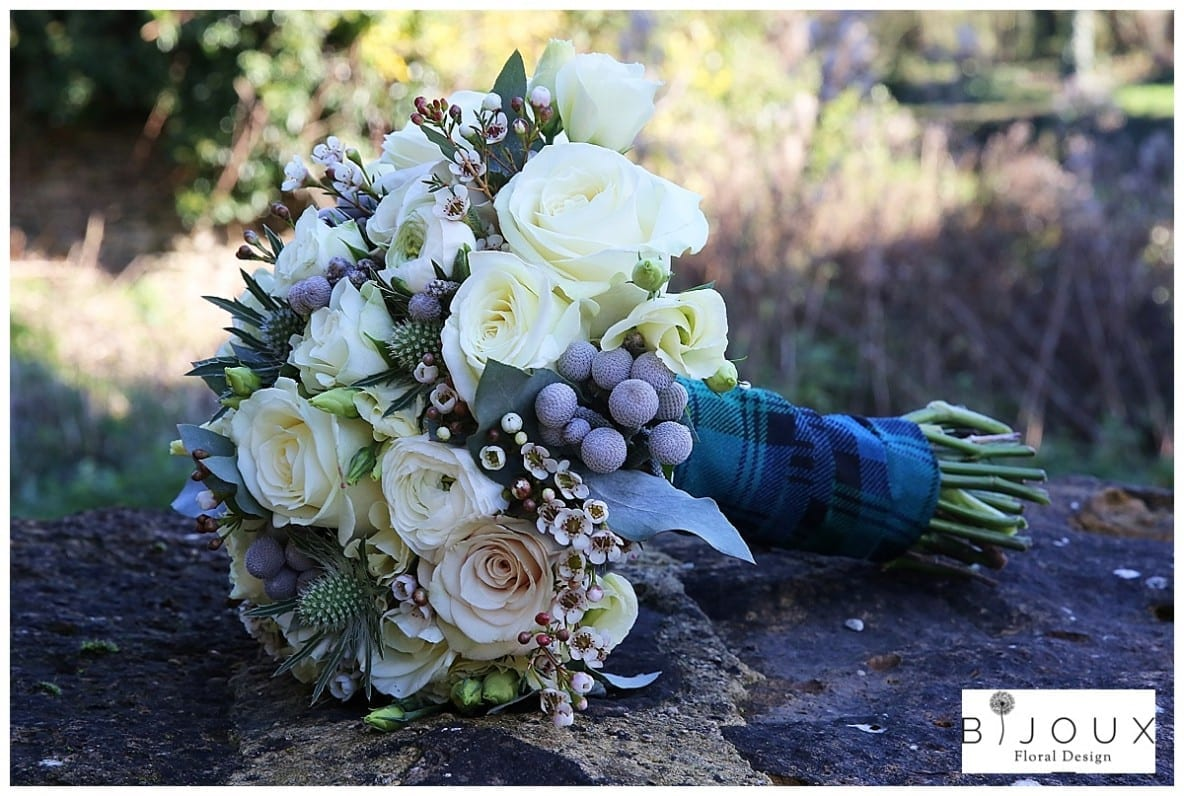 Kingscote Barn Winter Wedding Bouquet | bijouxfloraldesign.co.uk